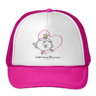 Coração cor-de-rosa pequeno simples da senhorita boné