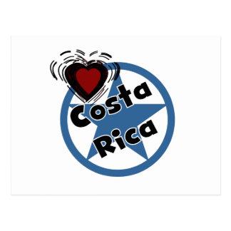 Coração Costa Rica Cartao Postal