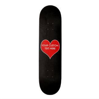 Coração customizável skateboard