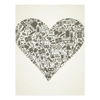 Coração da arte cartão postal
