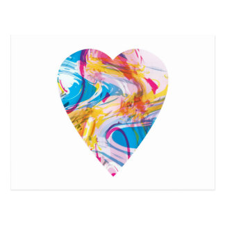 Coração da arte do pulso aleatório cartão postal