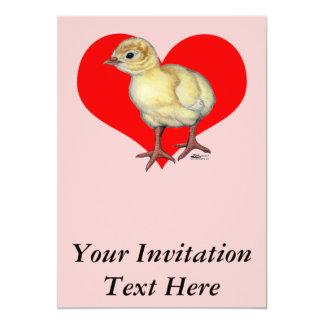 Coração da ave jovem de Turquia Convite 12.7 X 17.78cm