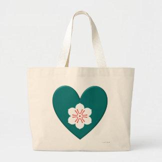 Coração da bandeira da prefeitura de saga bolsas para compras