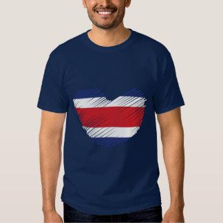 Coração da bandeira de Costa Rica Tshirt