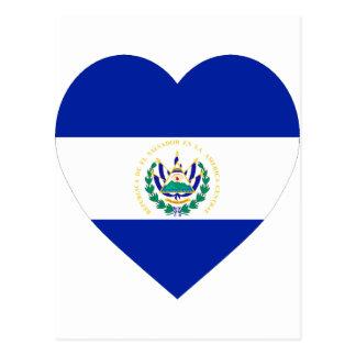 Coração da bandeira de El Salvador Cartão Postal