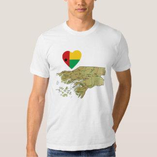 Coração da bandeira de Guiné-Bissau e t-shirt do m