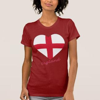 Coração da bandeira de Inglaterra Tshirts