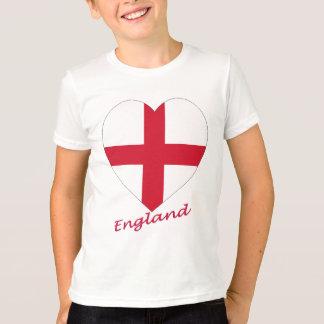 Coração da bandeira de Inglaterra Camiseta