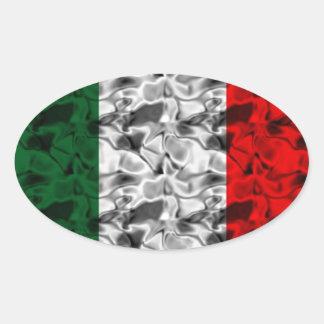 Coração da bandeira de Italia Adesivo Oval