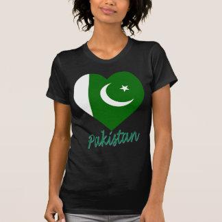 Coração da bandeira de Paquistão Tshirt