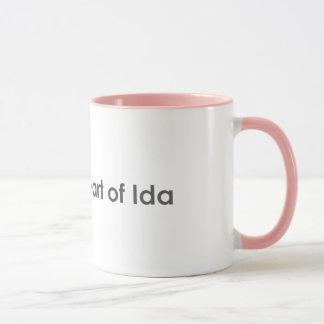 Coração da caneca do IDA