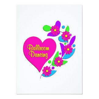 Coração da dança de salão de baile convites