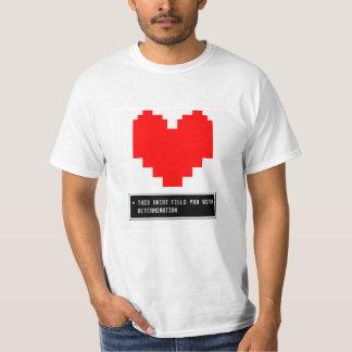 Coração da determinação camiseta