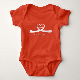 Coração da fita body para bebê