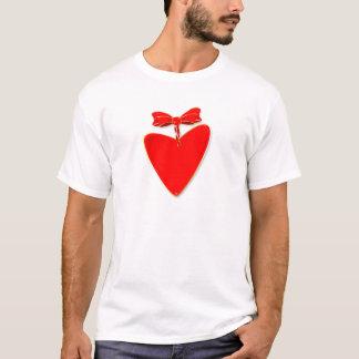Coração da fita camiseta
