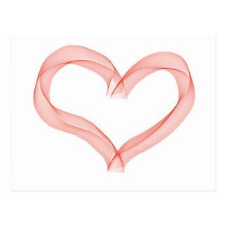 Coração da fita cartão postal