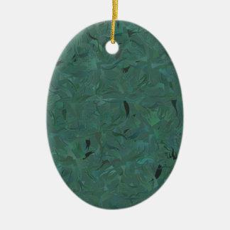 Coração da floresta ornamento de cerâmica oval