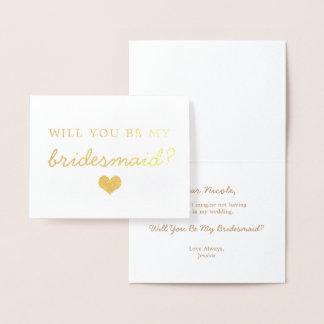 Coração da folha de ouro você será meu cartão da