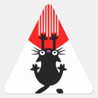 Coração da garra do gato adesivo triangular