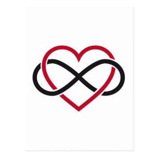 Coração da infinidade, nunca terminando o amor cartão postal