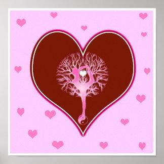 Coração da ioga pôster