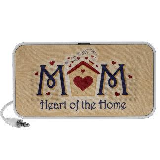 Coração da MAMÃ do auto-falante do Doodle da casa Caixinhas De Som