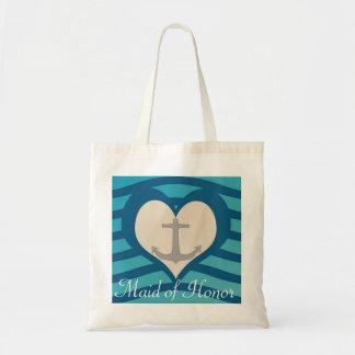Coração da praia & bolsa da madrinha de casamento