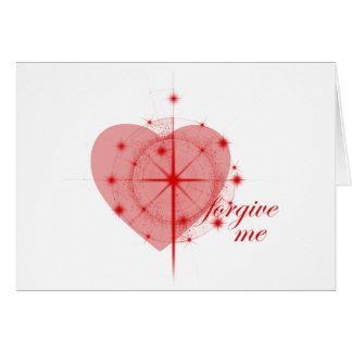coração da remissão cartão comemorativo
