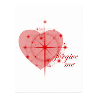 coração da remissão cartão postal