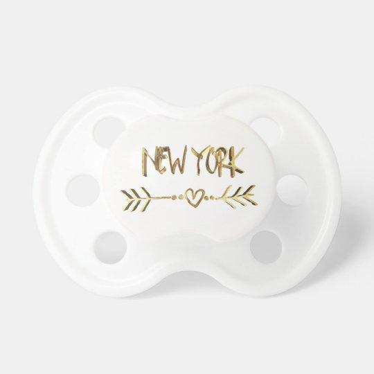 Coração da tipografia do olhar do ouro dos EUA do Chupeta Para Bebê
