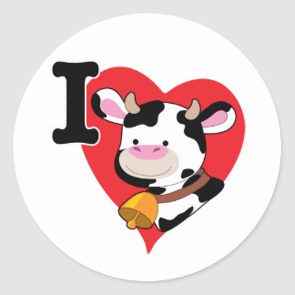 Coração da vaca adesivo