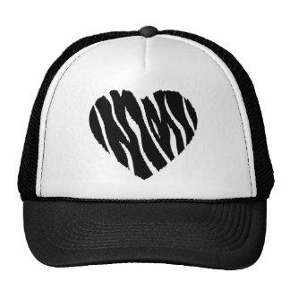 Coração da zebra boné