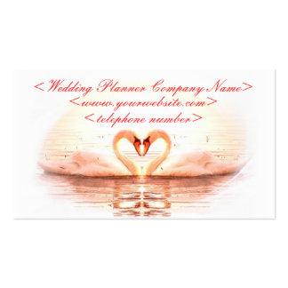 Coração das cisnes que Wedding o planejador Cartão De Visita