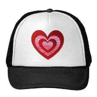 Coração das imagens no chapéu bonito boné