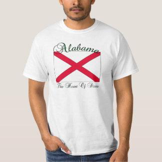 Coração de Alabama do t-shirt de Dixie