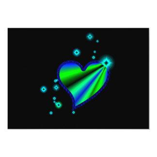 coração de arco-íris com atrizes jovens em preto convite 12.7 x 17.78cm