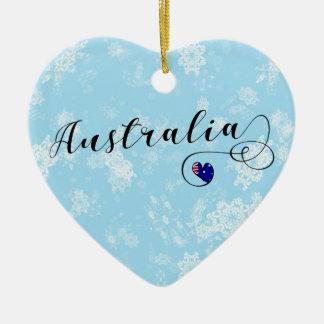 Coração de Austrália, ornamento da árvore de Natal