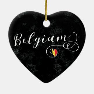 Coração de Bélgica, ornamento da árvore de Natal,