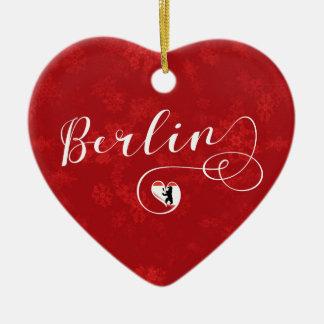 Coração de Berlim, ornamento da árvore de Natal,