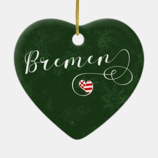 Coração de Brema, ornamento da árvore de Natal,