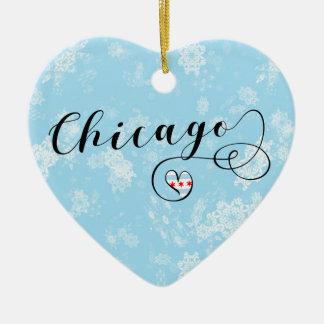 Coração de Chicago, ornamento da árvore de Natal