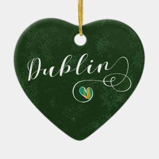 Coração de Dublin, ornamento da árvore de Natal