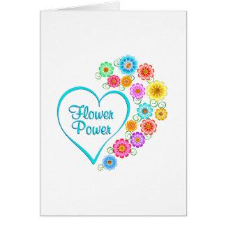 Coração de flower power cartão