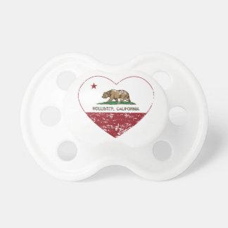 coração de Hollister da bandeira de Califórnia afl Chupeta De Bebê