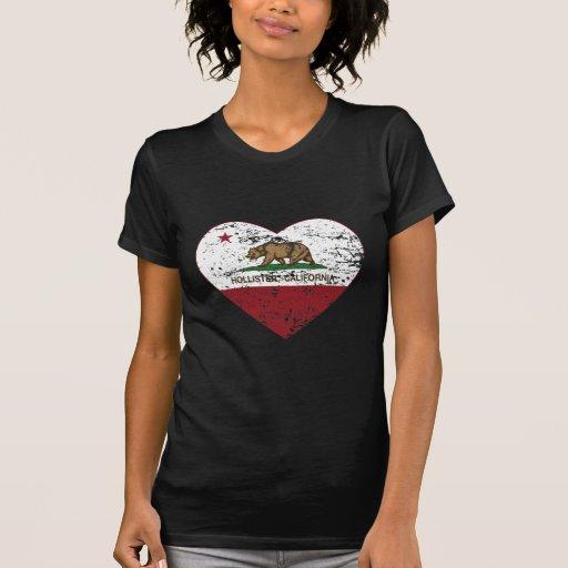 coração de Hollister da bandeira de Califórnia afl Tshirt