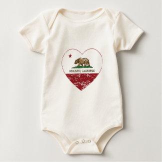 coração de Hollister da bandeira de Califórnia Body Para Bebê