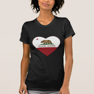 coração de Hollister da bandeira de Califórnia Camiseta