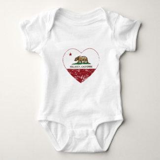 coração de Hollister da bandeira de Califórnia T-shirts