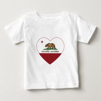coração de Hollister da bandeira de Califórnia Camiseta Para Bebê