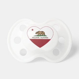 coração de Hollister da bandeira de Califórnia Chupeta De Bebê